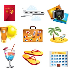 icons travel vector image