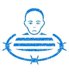 Isolated Prisoner Grainy Texture Icon vector
