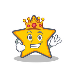 King star character cartoon style vector