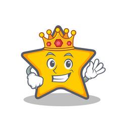King star character cartoon style vector