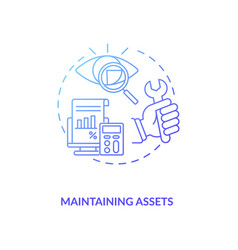 Maintaining assets concept icon vector
