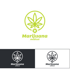 Marijuana medical logo vector