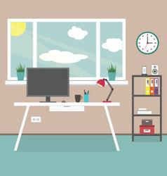 Modern creative workplace vector