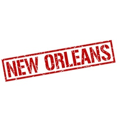 New Orleans red square stamp vector