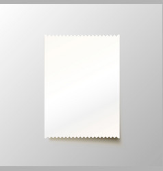 Paper blank cheque on the white background vector