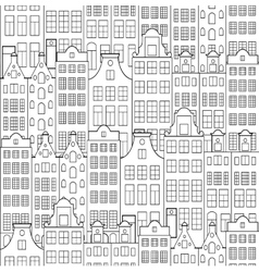 pattern with old building vector image