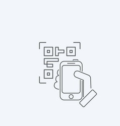 photographing qr code vector image