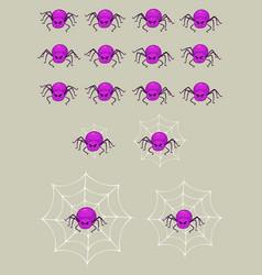 Purple spider game sprites vector