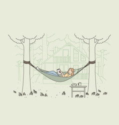 relaxation summer outdoor leisure concept vector image