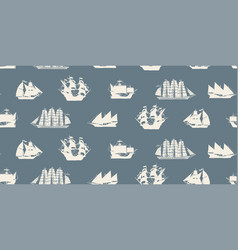 Seamless background on the theme of sea travel vector