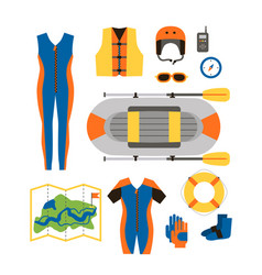 set of equipment for sports and outdoor activities vector image
