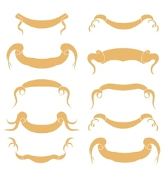 Set of peach Ribbons vector image