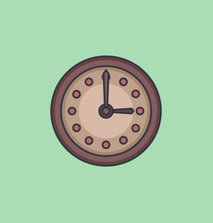 simple clock vector image