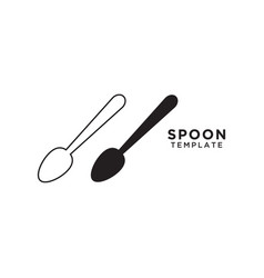 spoon graphic design template vector image