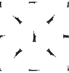 Statue of liberty pattern seamless black vector