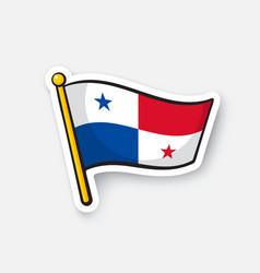 sticker national flag panama vector image