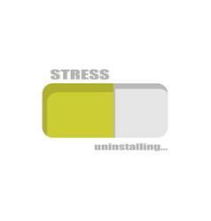 Stress level conceptual meter vector