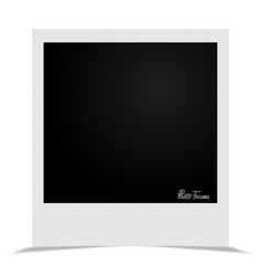 stylish frame with shadow vector image