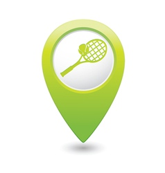 tennis1 GREEN map pointer vector image