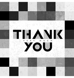 thank you monochrome tiles vector image