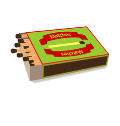 top view matchbox on white vector image