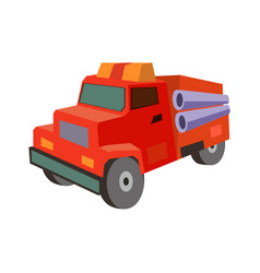 transportation fire truck flat icon vector image