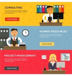 web banners for business work start up vector image