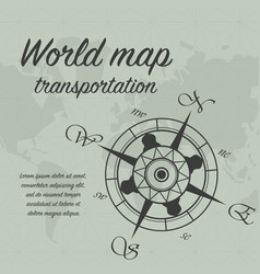 windrose world background vector image