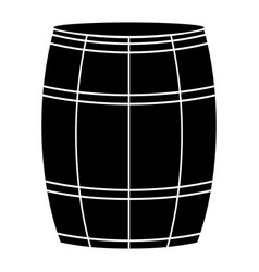 Wine or beer barrels black color icon vector