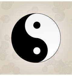 Ying Yang japanese tattoo vector image