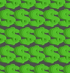 Dollar seamless pattern Green Dollar background vector image