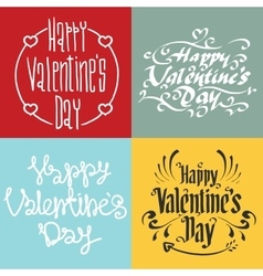 Happy Valentines Day greeting cards vector image vector image