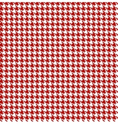 Red-white houndstooth background -seamless vector image vector image