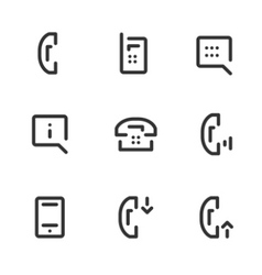 call service icons vector image