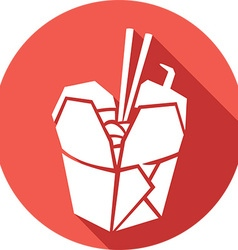 Chinese Food Icon vector image vector image