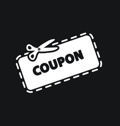 discount coupon icon vector image