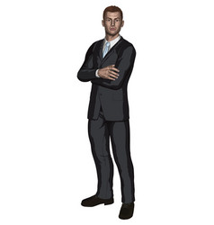 handsome young businessman vector image vector image