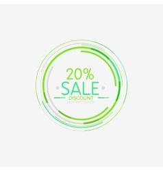 Minimal line design shopping stamps sale vector image vector image