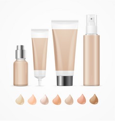 realistic empty template foundation cream package vector image vector image
