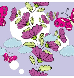 tall flower print vector image vector image