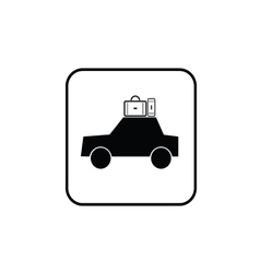 car with bag black vector image vector image