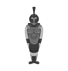 Roman soldier icon black monochrome style vector image vector image