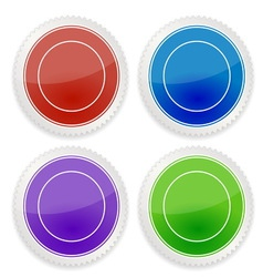 Set of blank circle label vector image