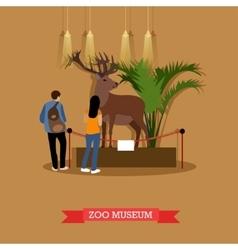 Stuffed deer and visitors vector
