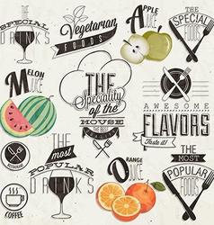 Vintage design elements and emblems vector image vector image