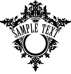 vintage ornamental frame template for your title vector image vector image