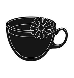glass mug with tea usefulvegetarian therapeutic vector image