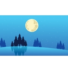 Landscape winter christmas collection stock vector