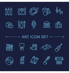 Line Art Icons Music theater and artistic icons vector image