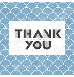 thank you on scale pattern vector image